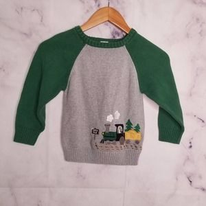 GYMBOREE knitted train boys pullover sweater